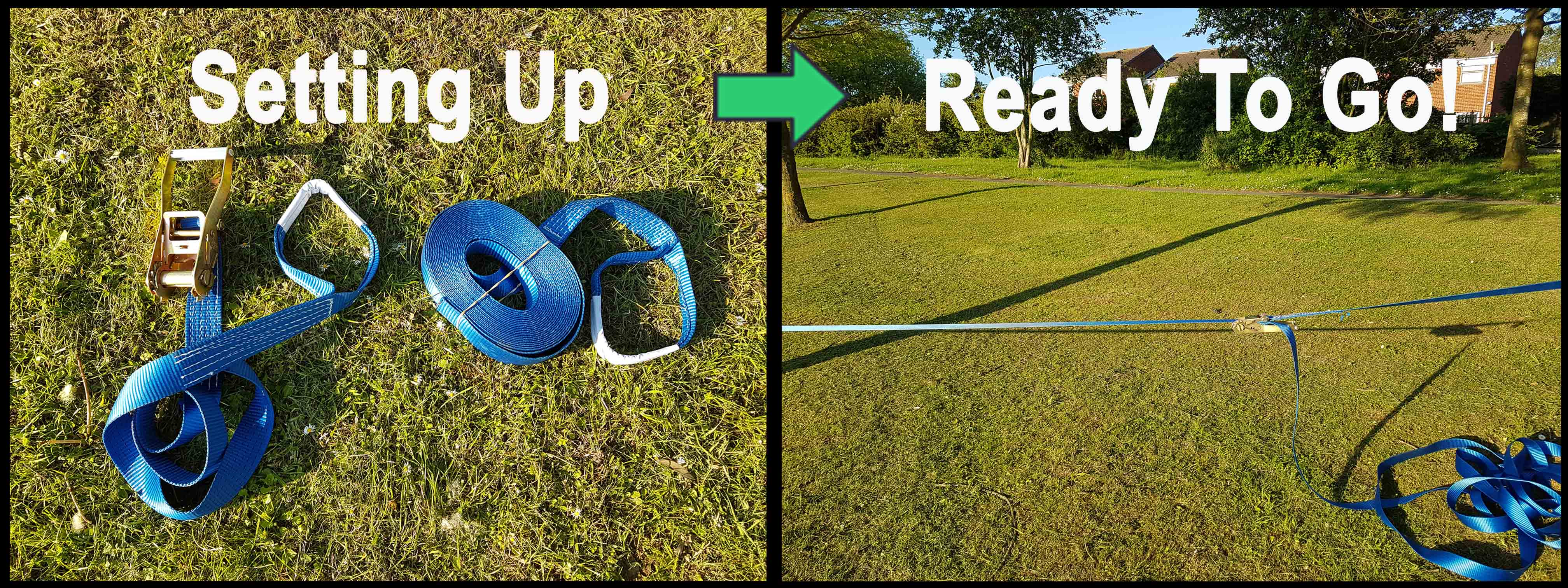 SecureFix Direct - All Our Slacklines Are Quick & Easy To Set Up. Pictured Is Our 15 Metre Version.