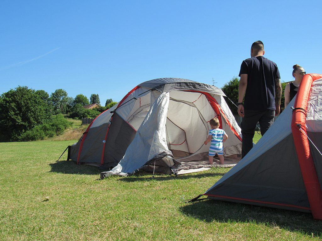 SecureFix Direct - Camping out in the sunshine as a family. What could be better?