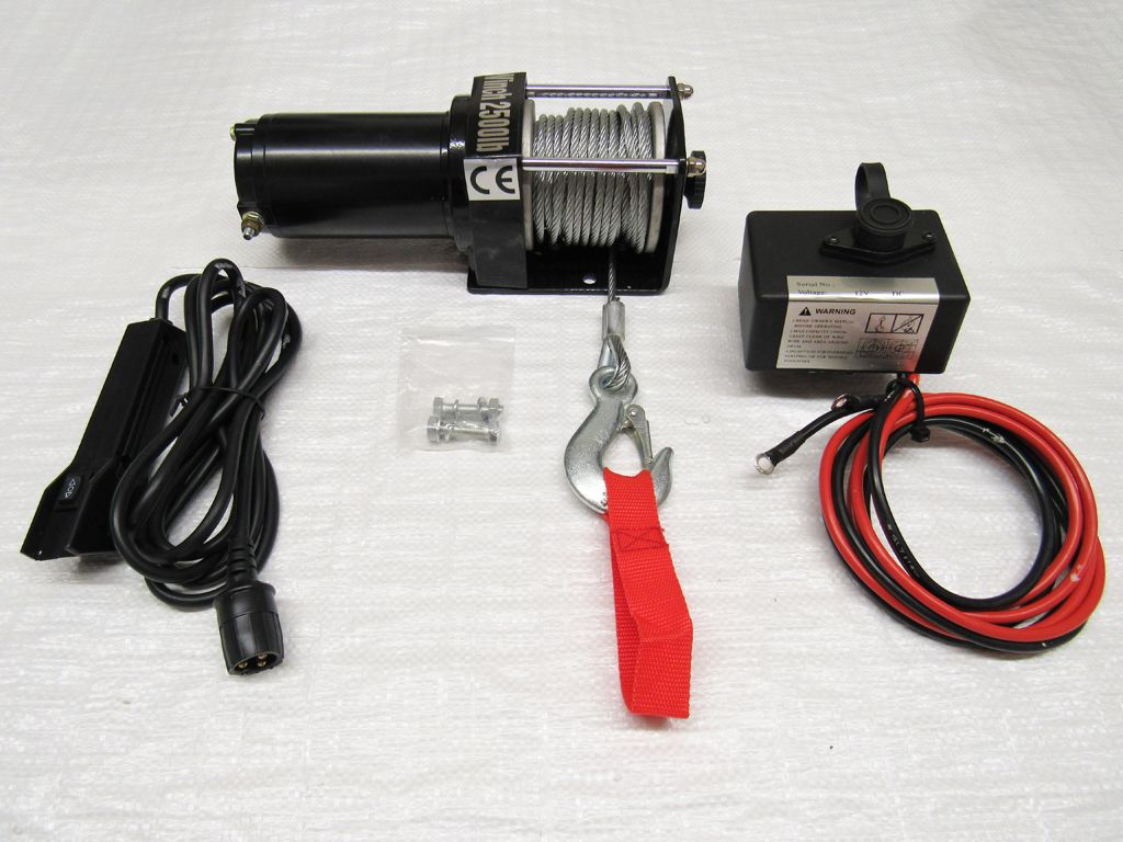 12v 2500lb Electric Recovery Winch Trailer Truck Boat Atv Car Van Wiring To Wired Remote