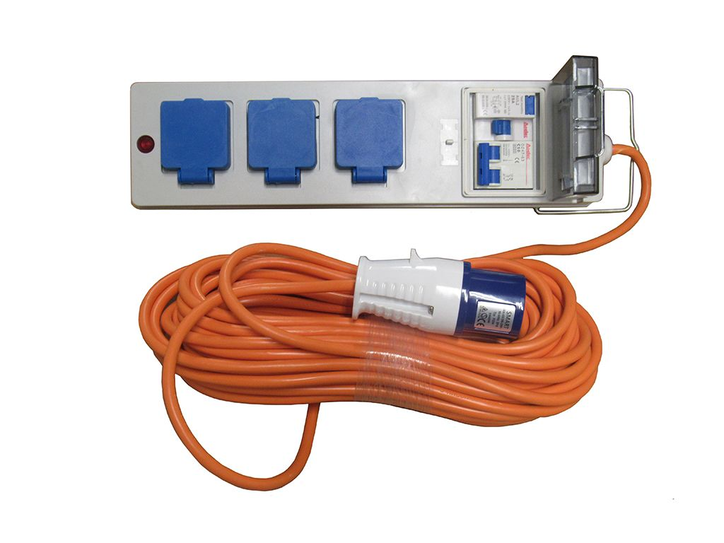 Pleasing Mains Hook Up 20 Metre Orange High Visibility Cable 3 Plug Socket Wiring Cloud Oideiuggs Outletorg