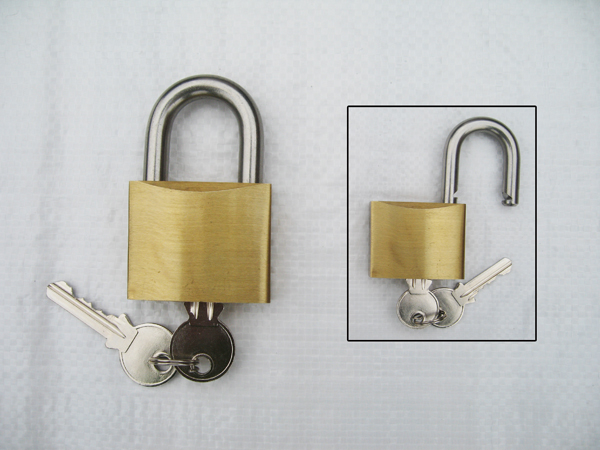 40MM, Brass Padlock With Stainless Steel Shackle - Marine Heavy Duty Multipurpose Security Lock