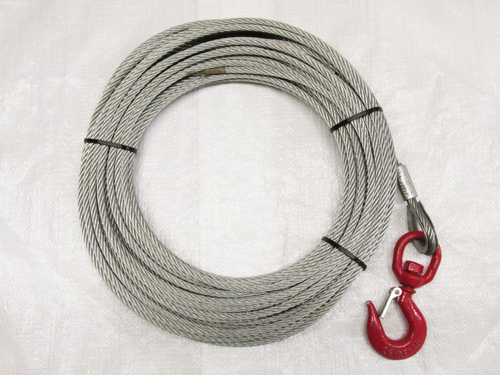 500kg 7mm 25m Lifting Hand Winch Cable Galvanised 7x19 0