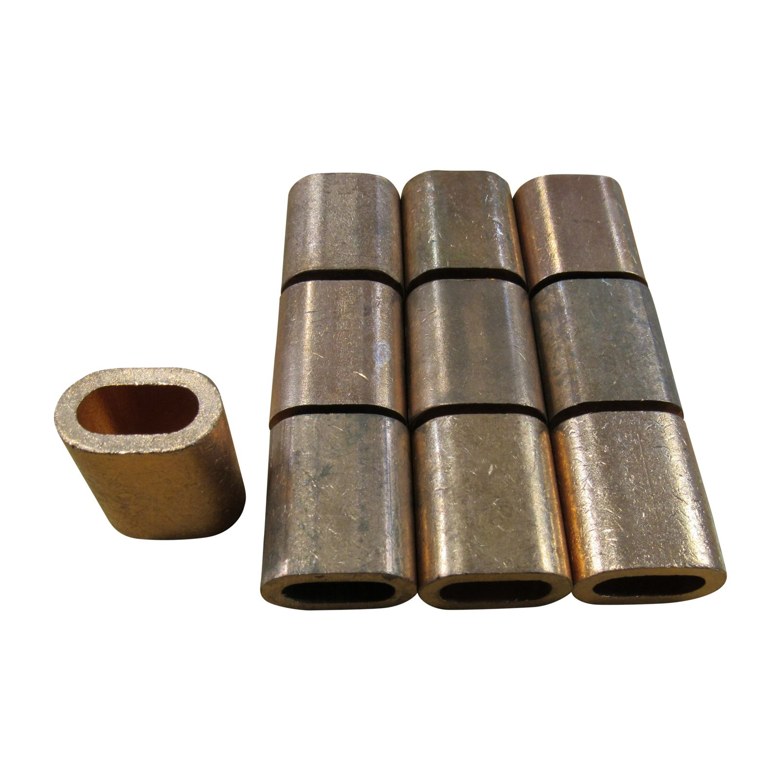 Secure Fix Direct 3.5mm Oval Copper Ferrules Sleeves Stainless Rope X10