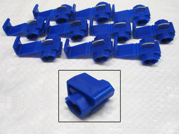 Scotch Locks Blue Pack Of 10 - Splicer Joiner Wire Crimp Electrical